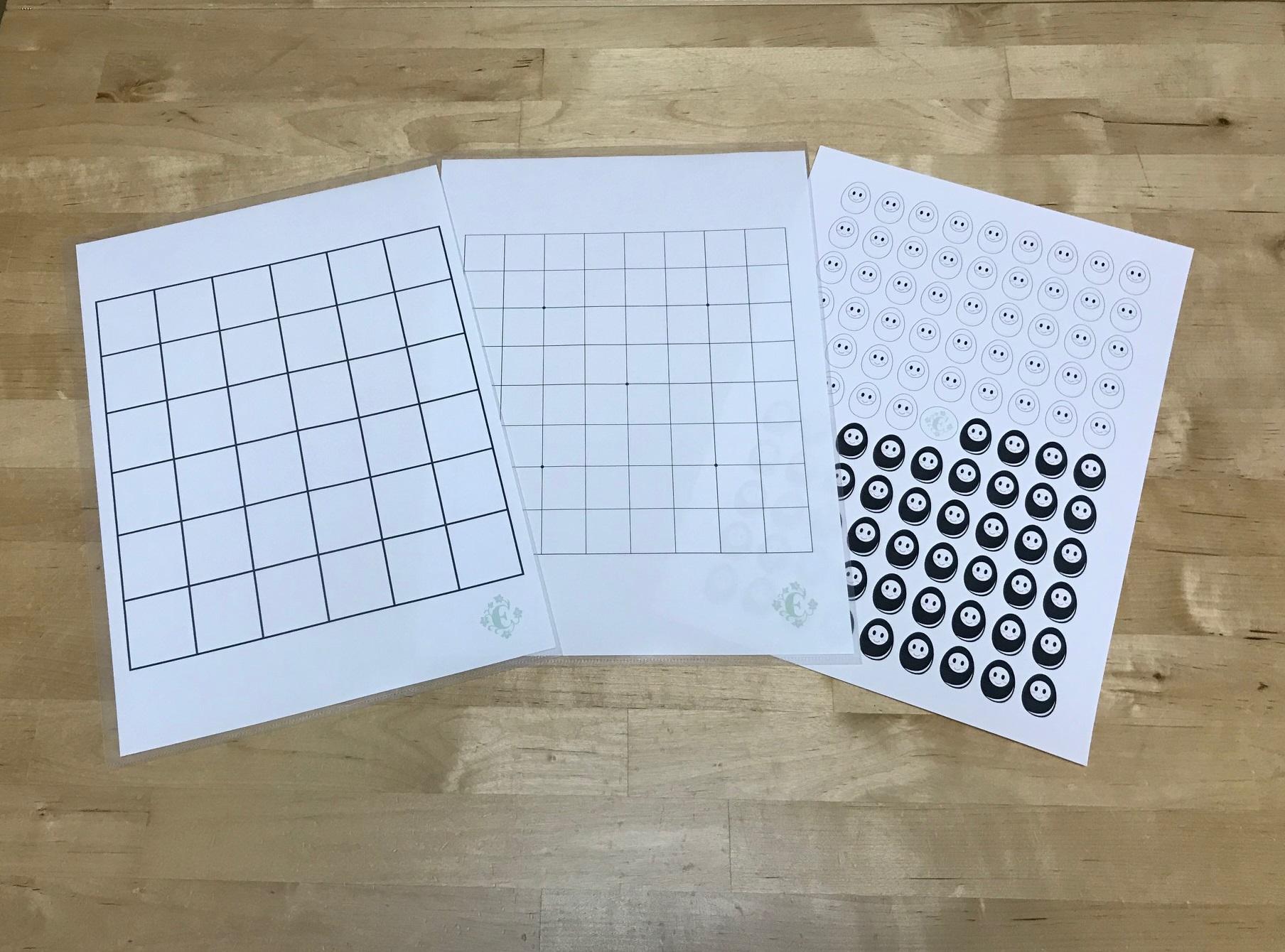 詰将棋6×6升の将棋盤・囲碁の9路盤・たま碁石デザイン等