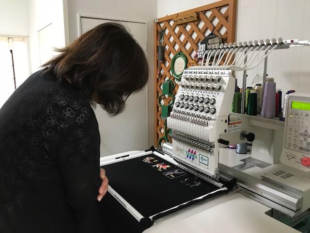 ミシン刺繍教室🎵 開運刺繍と帽子刺繍🎵