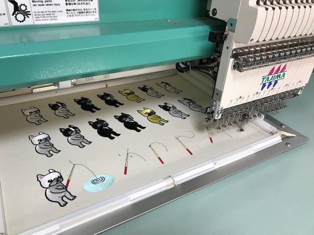 モリココさんのフレンチブルドックちゃん刺繍の鬼検品🎵