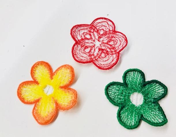 ミシン刺繍教室♪ ケミカルレースの研究等♪