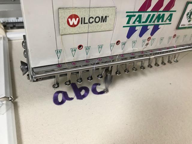 モリココさんの手書き風フォントの試し縫い♪