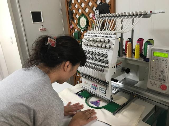 ミシン刺繍教室♪ 確実に成長している生徒様💛