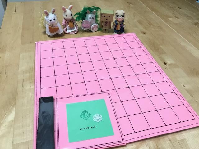 ピンク色のフェルト将棋盤 注文頂きましたです♪