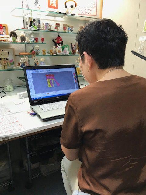 ミシン刺繍教室♪  手刺繍風な刺繍データ作りのコツのレッスン♪ベルニナの刺繍ソフト♪