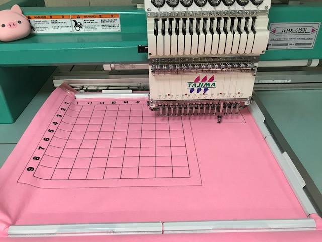 ピンクの数字入りフェルト将棋盤製作♪ (ピンク色は初!!)