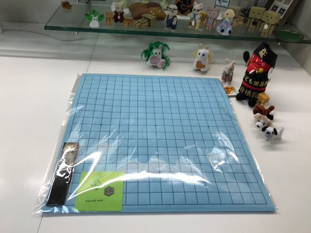 水色の魔法のフェルト碁盤発送致しましたです。(*´ω`*)ホッ♪