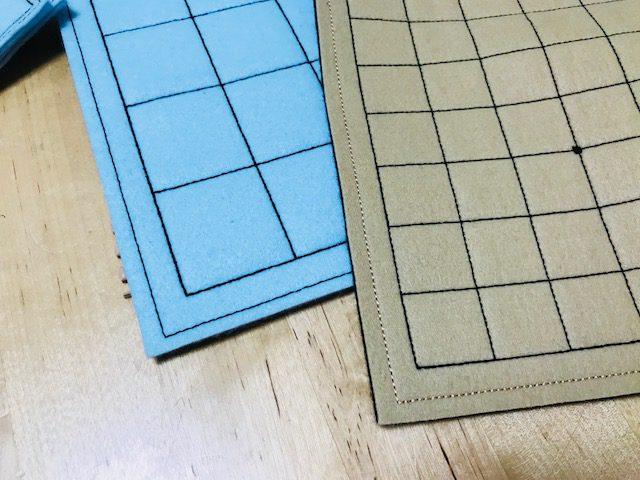 フェルト将棋盤 と 魔法のフェルト碁盤 の刺繍の違い!!