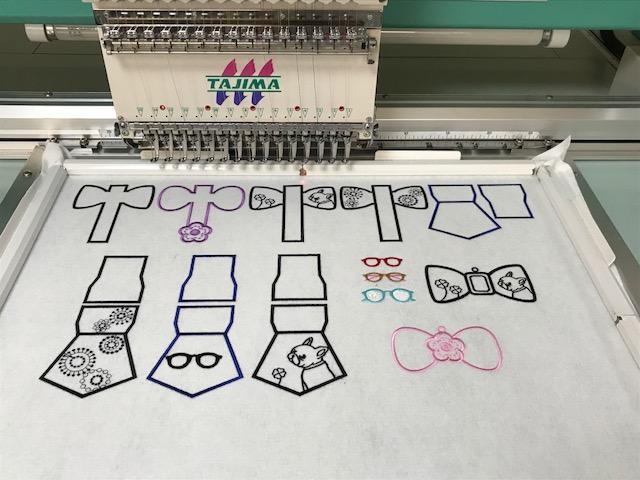 モリココさんの刺繍CD用の試し縫いが完了♡