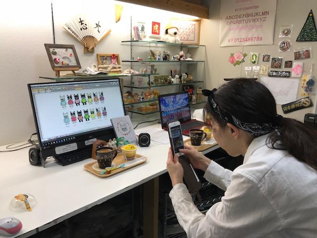 モリココさんとの刺繍CDの打ち合わせとブログ開設のサポート!!
