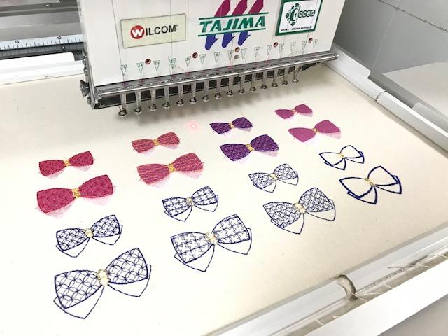 由美さんの刺繍CD企画♪ 🎀 和リボンの試し縫い 🎀