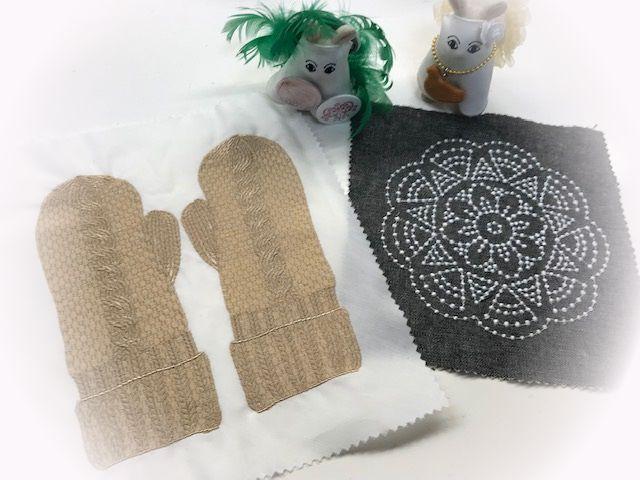 手袋の刺繍とキャンドルウィックの過去作品♪