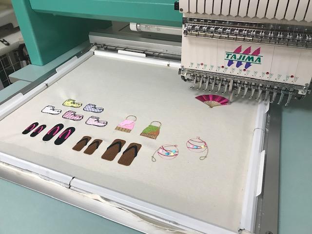 由美さんの刺繍CD企画♪  頂いた刺繍データ試し縫い第一弾 完了!!