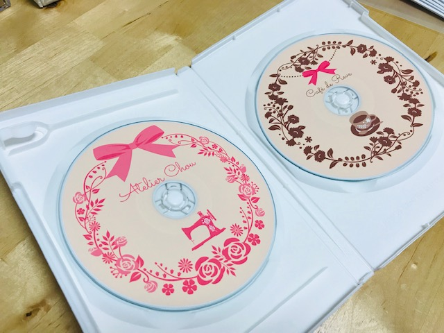 由美さんの刺繍CD企画。 Atelier Chou 収録データの登録完了!! 一歩一歩♡