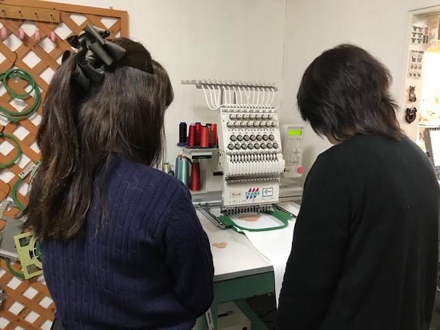 ミシン刺繍教室♪  アップリケのレッスン♪