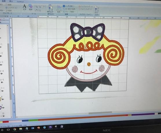 ミシン刺繍教室♪ アップリケ刺繍データレッスン♪