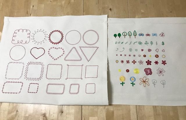 刺繍CDコンテスト用の参加賞データ試し縫い完成♪