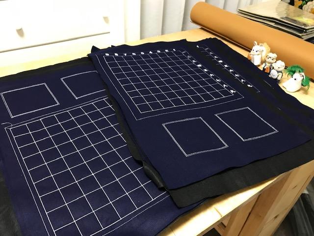 フェルト製将棋盤製作 その3  フェルト盤のカット作業♪