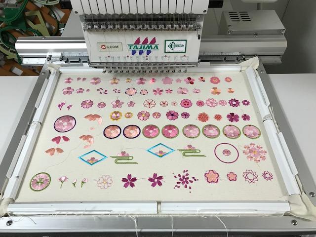 和柄刺繍CD企画 その6 桜デザインの試し縫い♪ その他いろいろ