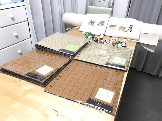 栄将棋教室でフェルト盤の追加注文頂きしまた。゚(゚^o^゚)゚。