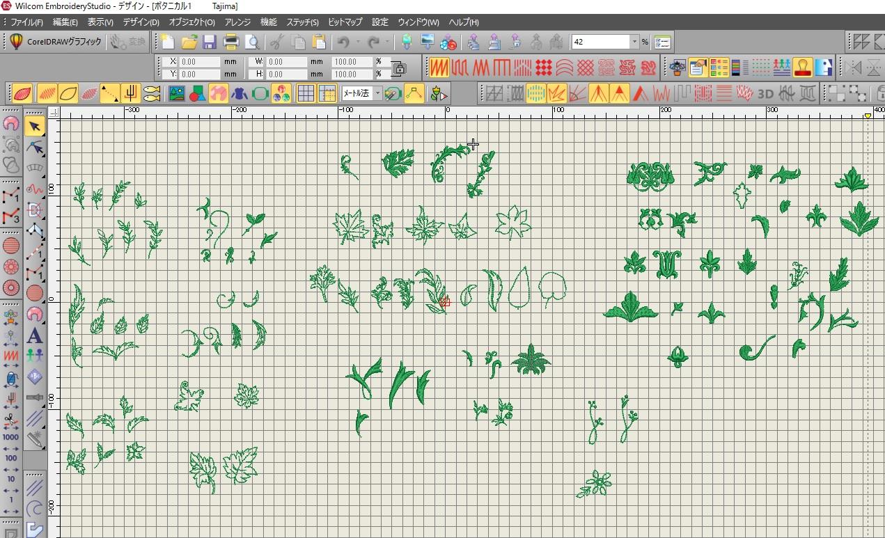 コラボ刺繍CD企画 その11  ボタニカル刺繍データ制作。その2