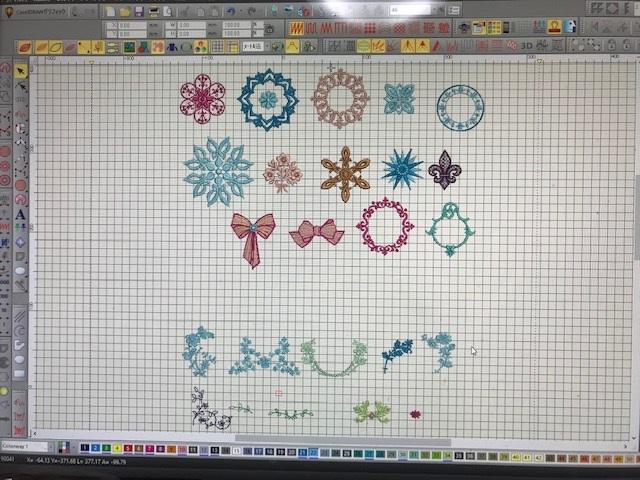 コラボ刺繍CD企画 その19 装飾風刺繍 その8  ご自愛の品送って頂きました。ありがとうございます。