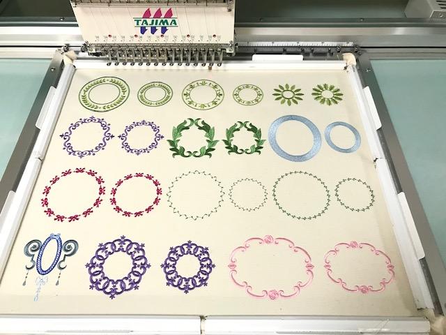 コラボ刺繍CD企画 その22  試し縫い その2