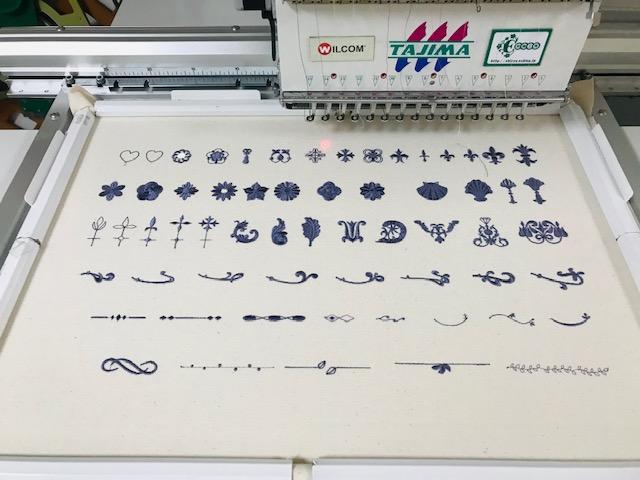 コラボ刺繍CD企画  その23 試し縫い その3 和柄刺繍CD作品のご紹介等。いろいろっ!!