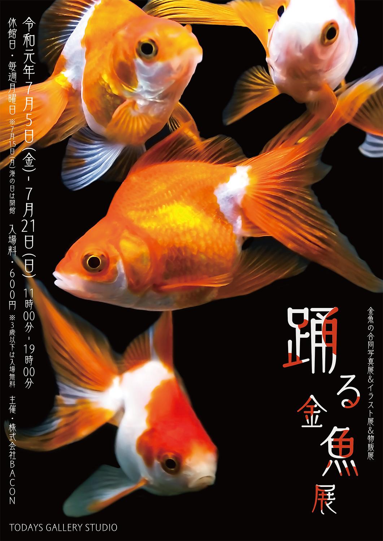 ◆ 宣伝!!宣伝!! ◆  踊る金魚展 ソライロ刺繍のN子さん金魚デビュー!!