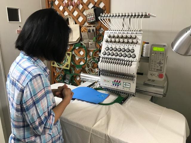 ミシン刺繍教室♪ ラブキモノさんとのミシン刺繍研究♪
