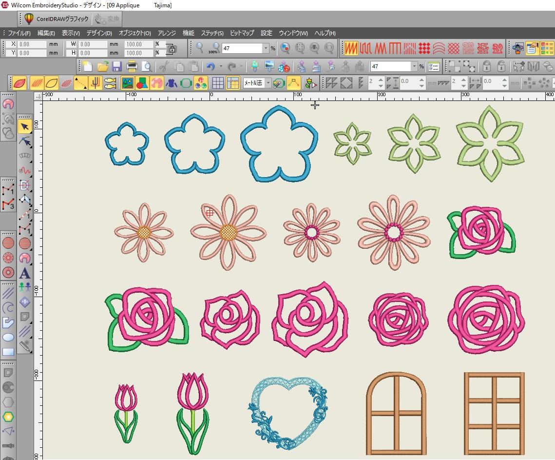 Fun embroidery刺繍CD企画(楽しい刺繍) その18  アップリケの試し縫い。