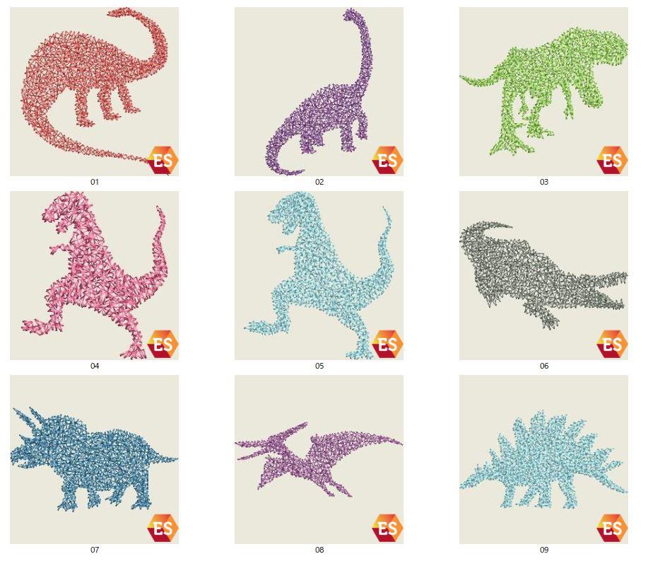 A刺繍工房刺繍CD企画 その7    恐竜クモの巣刺繍の鬼検品♪