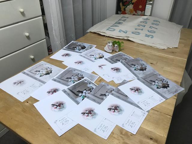 Fun embroidery刺繍CD企画(楽しい刺繍) その26 刺繍CDジャケットとレーベル作成♪