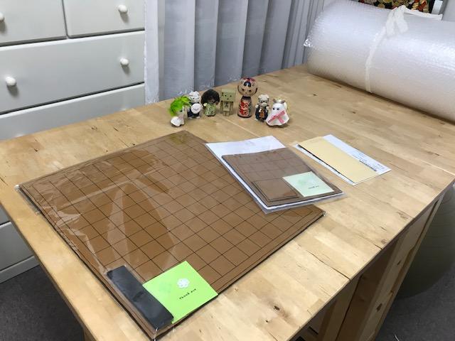 中将棋盤と京都将棋盤 5×5升のご注文頂きました。ありがとうございますヾ(≧▽≦)ノ