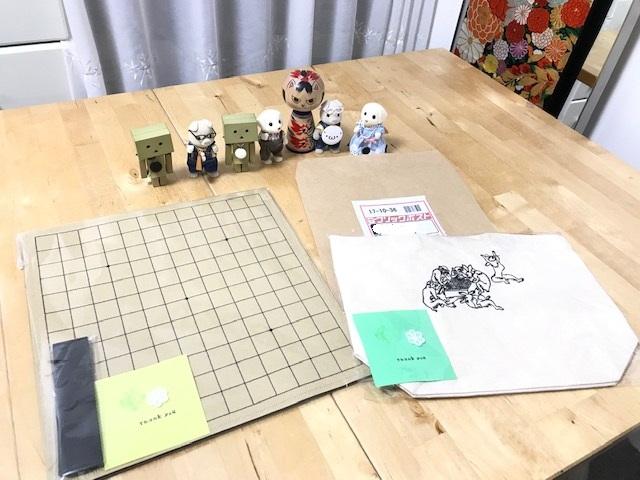 魔法のフェルト碁盤 13路盤と鳥獣戯画刺繍入りトートバックのご注文ありがとうございます!!