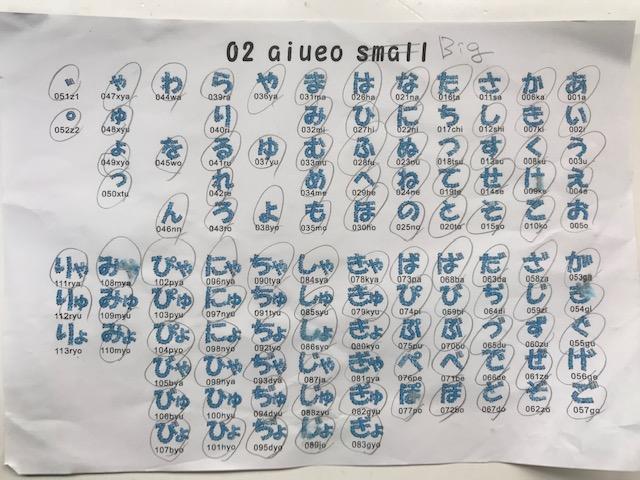 A刺繍工房刺繍CD企画 その12  クモの巣刺繍のあいうえお(big)の試し縫い♪