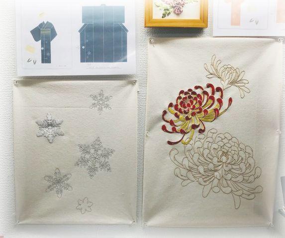 10月、11月、12月 ミシン刺繍教室の募集のお知らせ。