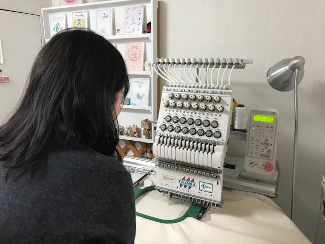 ミシン刺繍教室♪ 嵐(ARASHI)大好きな生徒様とのレッスン。