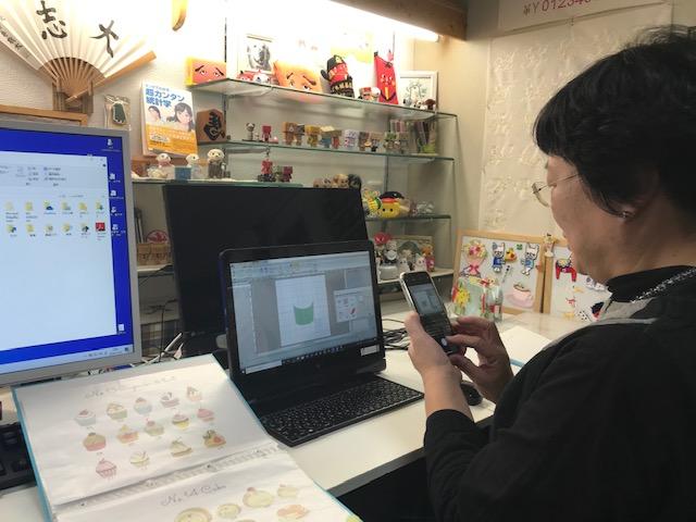 ミシン刺繍教室♪ A刺繍工房の朝倉さち子さんとの復習レッスン♪ と ハンドスタッズ体験!!