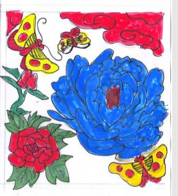 デコレーションズ刺繍CD企画♡ その19 花札アレンジデータ製作♪ entrance embroidery