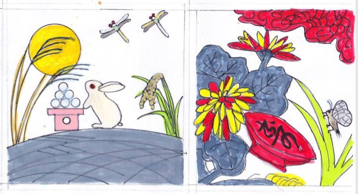 デコレーションズ刺繍CD企画♡ その20 花札アレンジデータ製作♪ entrance embroidery