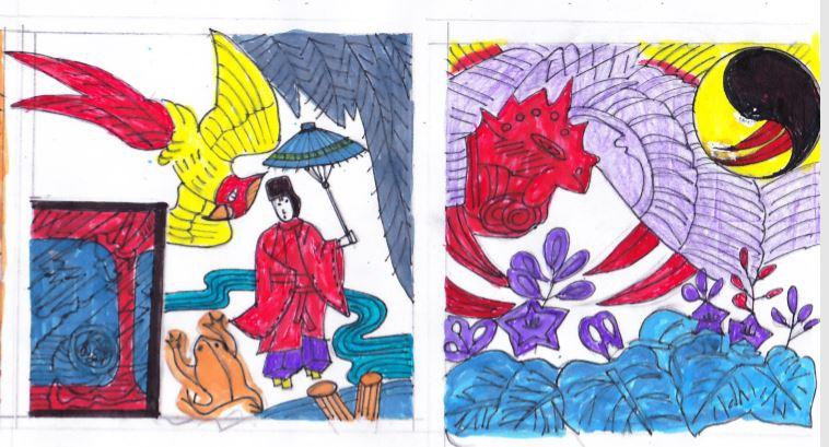 デコレーションズ刺繍CD企画♡ その22 花札アレンジデータ製作♪ entrance embroidery