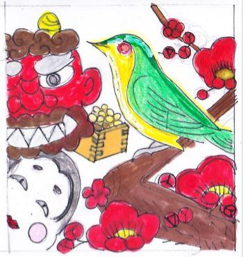デコレーションズ刺繍CD企画♡ その17 花札アレンジデータ製作♪ entrance embroidery