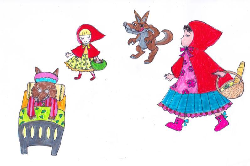 デコレーションズ刺繍CD企画♡ その15  赤ずきんちゃんのデータ製作♪ entrance embroidery