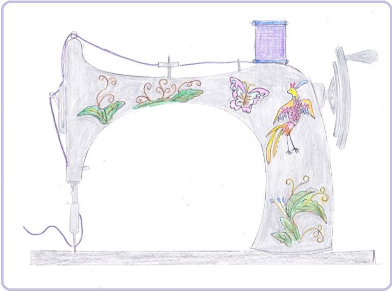 デコレーションズ刺繍CD企画♡ その5 アンティークミシン刺繍データ製作♪ entrance embroidery