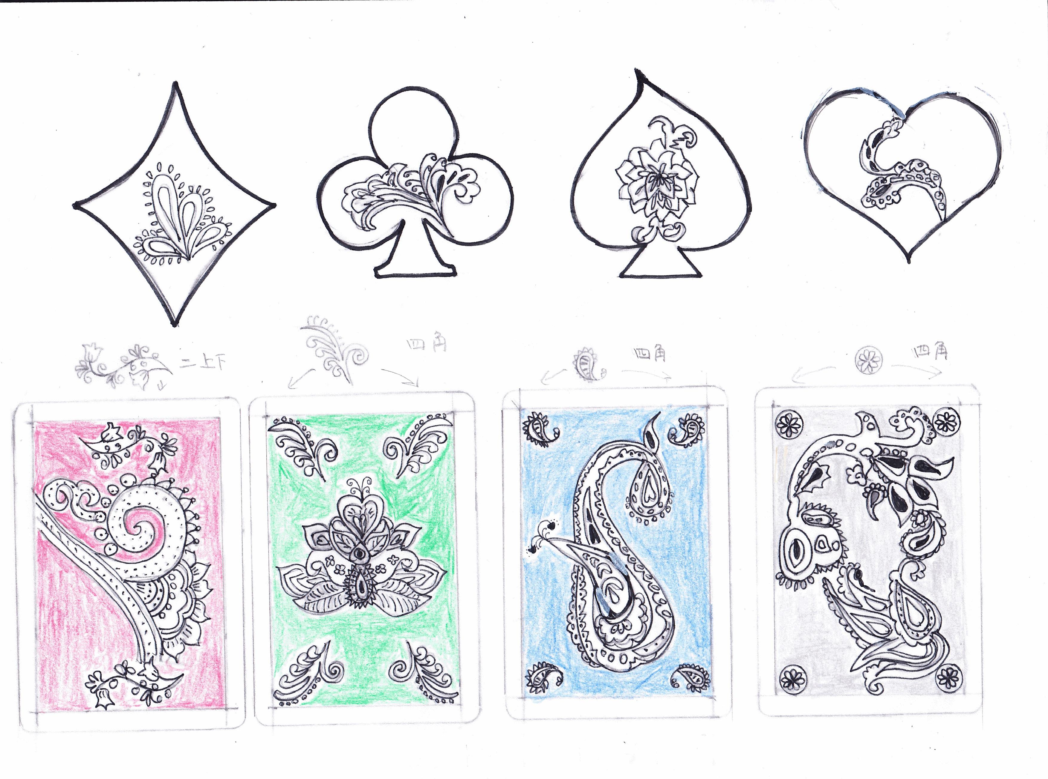 デコレーションズ刺繍CD企画♡ その30トランプ データ製作♪ entrance embroidery