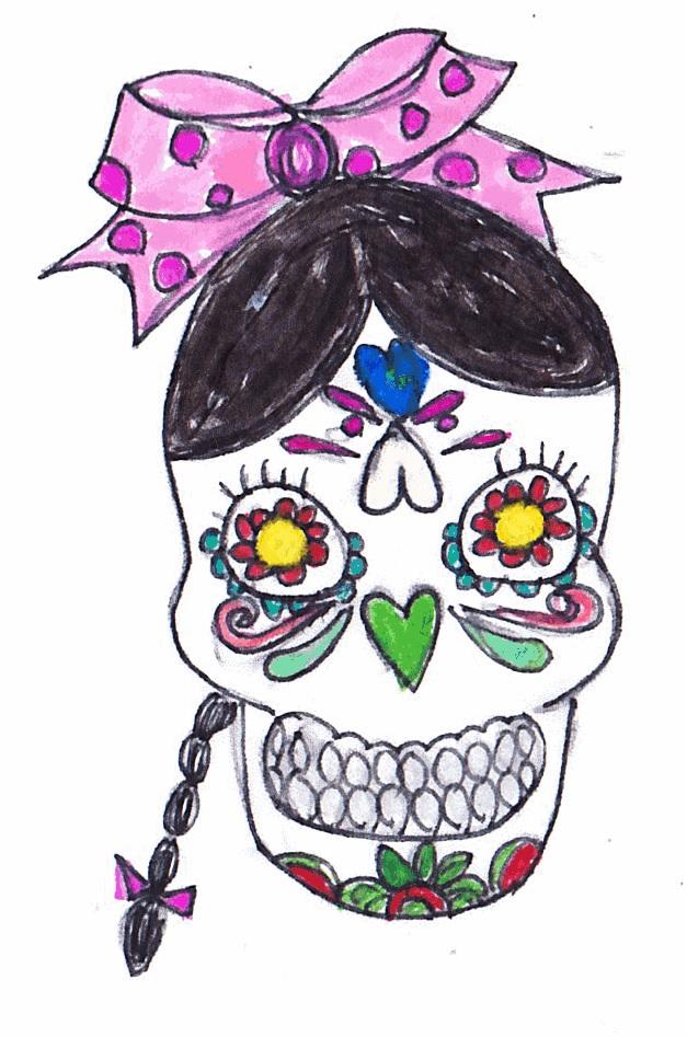 デコレーションズ刺繍CD企画♡ その31 スカル女子のデータ製作♪ entrance embroidery