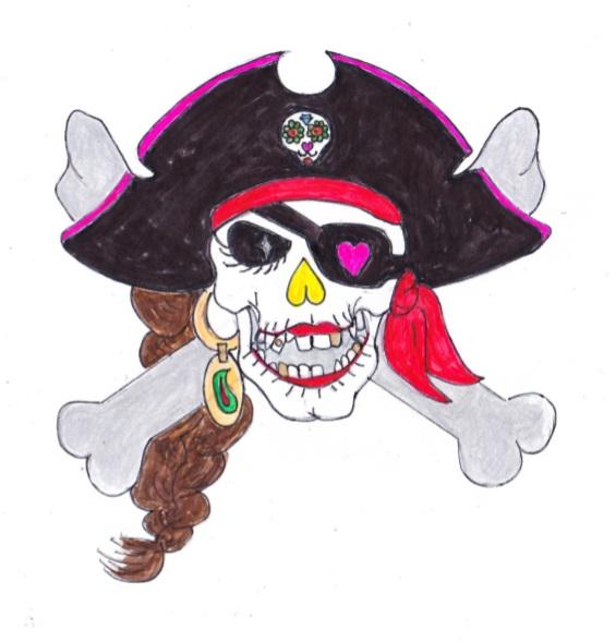 デコレーションズ刺繍CD企画♡ その45 海賊スカルデータ製作♪ entrance embroidery
