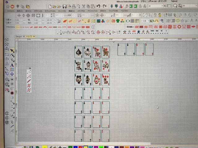 デコレーションズ刺繍CD企画♡ その24 トランプ データ製作♪ entrance embroidery