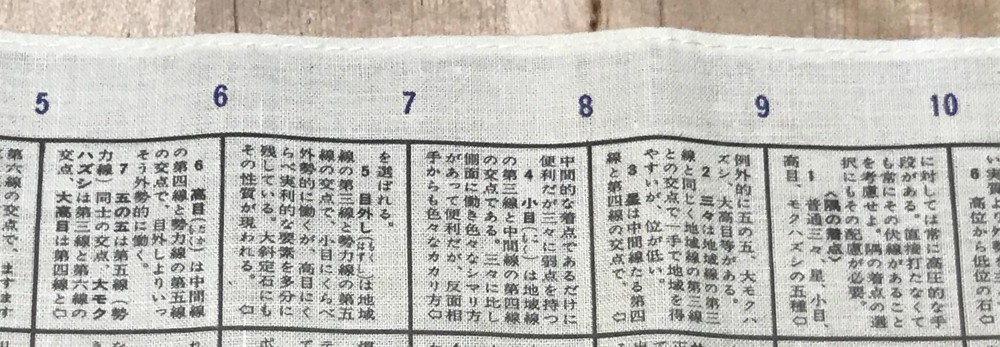 『囲碁百科ハンカチ』 その4