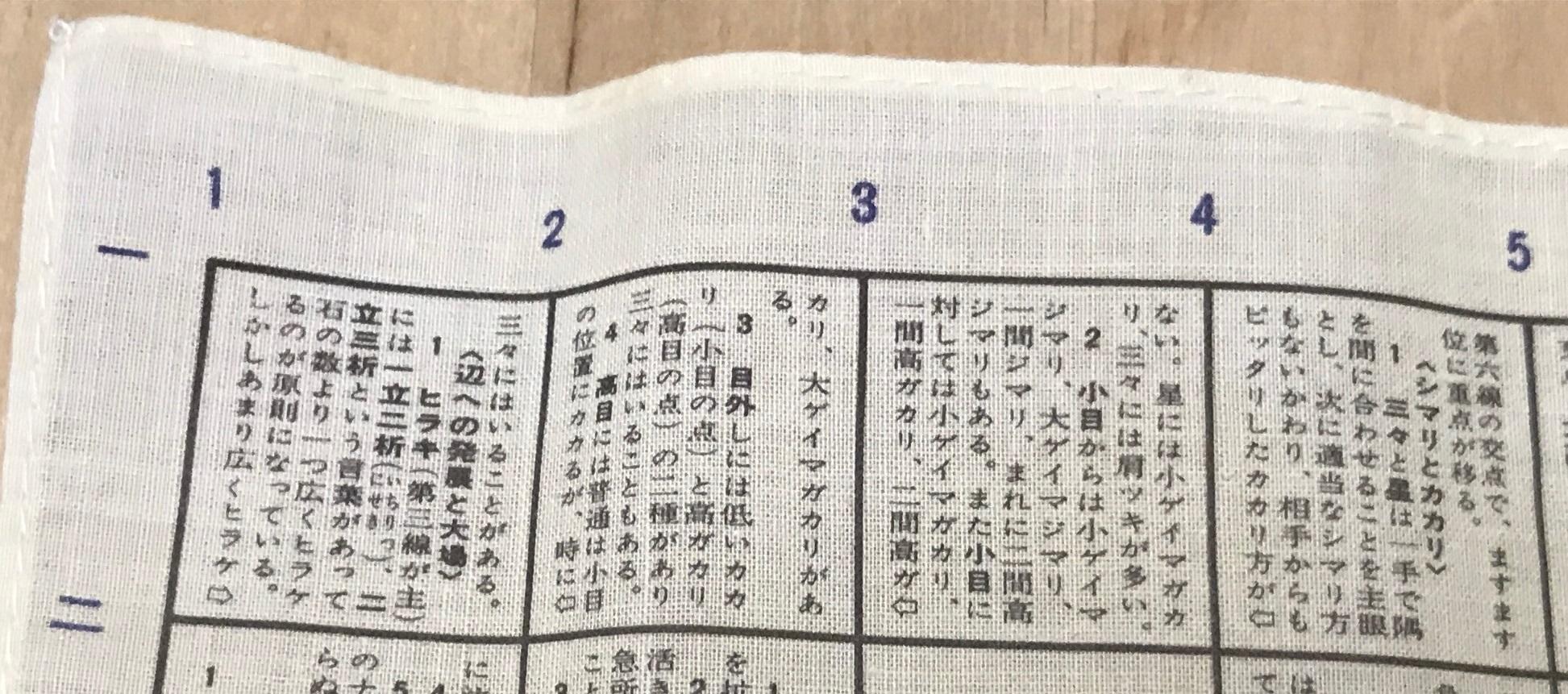 『囲碁百科ハンカチ』 その6